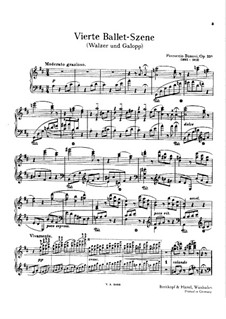 Ballet Scene No.4, BV 238 Op.33a: Waltz and Gallop by Ferruccio Busoni