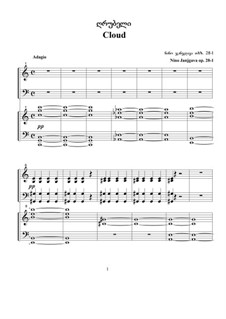 Three Pieces for Two Pianos, Op.28-1: Three Pieces for Two Pianos by Nino Janjgava