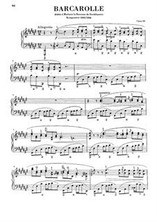 Barcarolle in F Sharp Major, Op.60: Para Piano by Frédéric Chopin