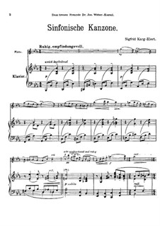Symphonic Canzona for Flute und Piano, Op.114: partitura by Sigfrid Karg-Elert