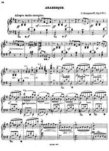 Arabesques for Piano, Op.6: arabesco No 1 by Genari Karganoff