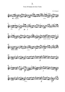 Thirty-Six Elementary and Progressive Studies for Violin, Op.20: Study No.3 in F Major by Heinrich Ernst Kayser