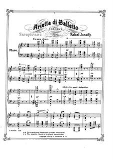 Arietta di Balletto: para um único musico (Editado por H. Bulow) by Rafael Joseffy