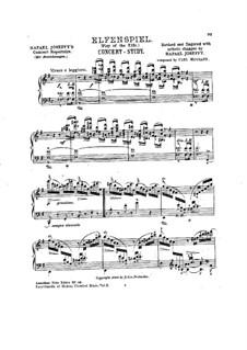 Play of the Elfs: para um único musico (Editado por H. Bulow) by Carl Heymann