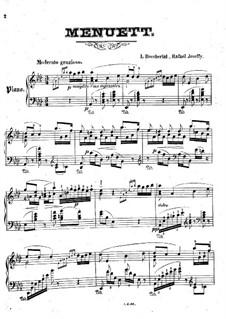 String Quintet No.5 in E Major, G.275 Op.107: minueto, para piano by Luigi Boccherini