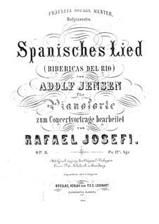 Transcription on Spanish Song by A. Jensen, Op.3: Transcription on Spanish Song by A. Jensen by Rafael Joseffy