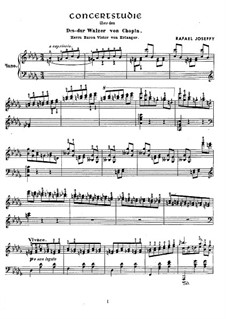Concert Study (after Waltz in D Flat Major by Chopin): Concert Study (after Waltz in D Flat Major by Chopin) by Rafael Joseffy