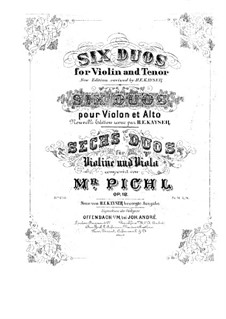 Six Duos for Violin and Viola, Op.18: partes by Vaclav Pichl