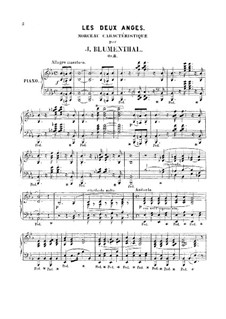 Two Pieces for Piano, Op.8, 67: duas peças para piano by Jacques Blumenthal