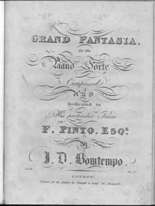 Grand Fantasia for Piano, Op.14: Grand Fantasia for Piano by João Domingos Bomtempo