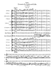 Concerto for Violin, Cello and Orchestra in A Minor, Op.102: Partitura completa by Johannes Brahms