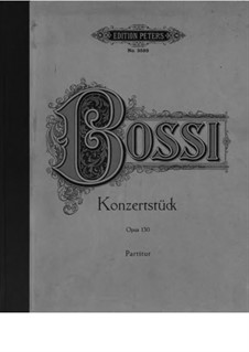 Concert Piece for Organ and Orchestra, Op.130: Partitura completa by Marco Enrico Bossi