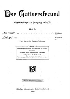 Two Pieces for Guitar: Dois peças para guitarra by Joseph Küffner, Matteo Carcassi