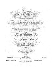 Récréations Musicales, Op.71: Suite No.2, for guitar by Henri Herz
