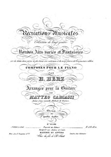 Récréations Musicales, Op.71: Suite No.4, for guitar by Henri Herz