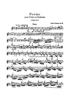 Poem in E Flat Major, Op.25: para violino e piano - parte solo by Ernest Chausson