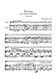 Poem in E Flat Major, Op.25: para violino by Ernest Chausson