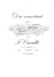 Concert Duet for Violin and Guitar, Op.27: Concert Duet for Violin and Guitar by Ferdinando Carulli