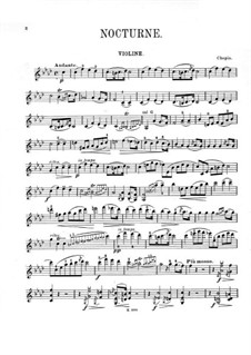 Nocturnes, Op.55: No.1, for violin and piano – solo part by Frédéric Chopin