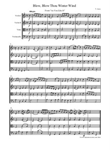 Three Pieces, for String Quartet: Three Pieces, for String Quartet by Thomas Augustine Arne