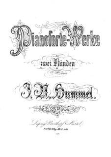 Selected Works for Piano: Selected Works for Piano by Johann Nepomuk Hummel