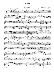 Piano Trios, Op.12, 83, 93: Parte em violino by Johann Nepomuk Hummel