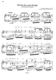 Three Songs, Op.32, 69, 71: Para Piano by Johannes Brahms
