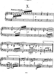 Twelve Piano Pieces, Op.26: Piece No.10 by Theodor Kirchner