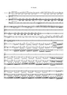 Concerto for Clarinet and Orchestra in E Flat Major, Op.36: Movement III, for clarinet, oboe and piano by Franz Krommer