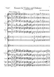 Concerto for Violin and Orchestra in E Minor: partitura completa by Pietro Nardini