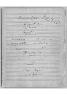 Cello Concerto No.2 in D Minor, Op.59: Partitura completa by Franz Neruda