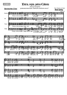 Datis, Nepis, Potus, Colonia, Op.20: Datis, Nepis, Potus, Colonia by Bernd Gehring