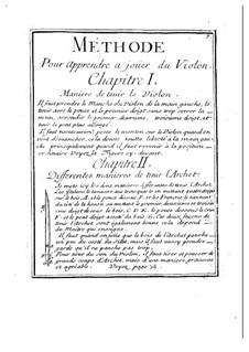 Leçons de violon dans le goût François: Leçons de violon dans le goût François by Michel Corrette