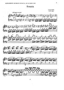 Sonata for Harpsichord in D Major, Illy No.1: movimento II by Baldassare Galuppi