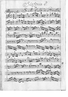Symphony in D Major: partes by Friedrich der Große