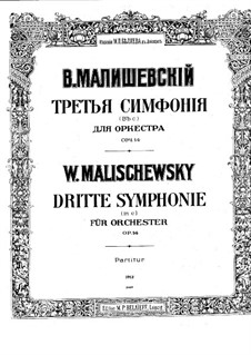 Symphony No.3 in C Minor, Op.14: Partitura completa by Witold Maliszewski