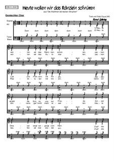 Humor im Chor. Heute wollen wir das Ränzlein schnüren: Humor im Chor. Heute wollen wir das Ränzlein schnüren, Op.204 by folklore
