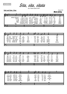 Humor im Chor. Sita, sita, sitata: Humor im Chor. Sita, sita, sitata, Op.218 by folklore