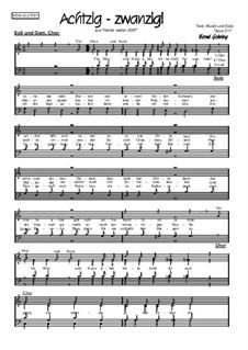 Achtzig - zwanzig, Op.217: Achtzig - zwanzig by Bernd Gehring