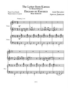 The letter from Kansas for Piano Four Hands: The letter from Kansas for Piano Four Hands by Ariel Davydov