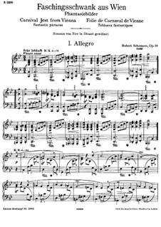 Carnival Jest from Vienna, Op.26: Para Piano by Robert Schumann