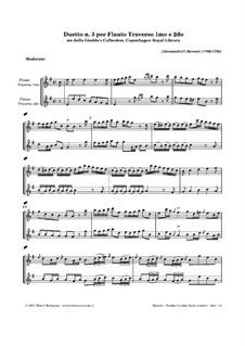 Duet for Two Flutes No.3: Duet for Two Flutes No.3 by Alessandro Besozzi