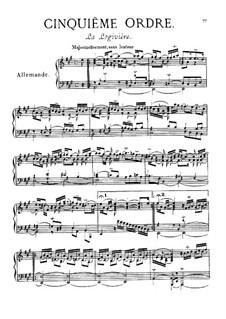 Cinquième ordre: set completo by François Couperin