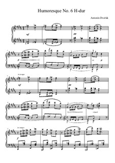 Humoresques, B.187 Op.101: No.6 in B Major by Antonín Dvořák
