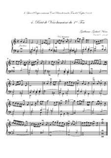 Premier livre d'orgue: No.4 Récit de voix humaine by Guillaume-Gabriel Nivers