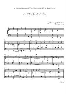 Premier livre d'orgue: No.10 Plein jeu by Guillaume-Gabriel Nivers