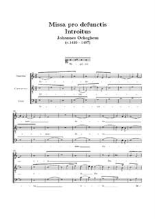 Missa pro defunctis: Introitus by Johannes Ockeghem