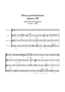 Missa prolationum: Agnus III by Johannes Ockeghem