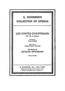 Complete Opera: Arrangement for voices and piano (English and french texts) by Jacques Offenbach