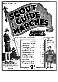 Scout Marches for Piano: Scout Marches for Piano by Albert H. Oswald